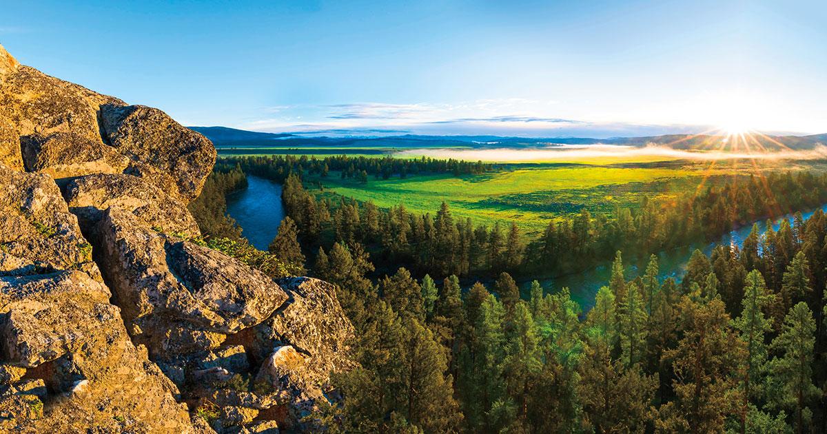 Paesaggio del Montana, Stati Uniti