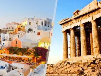 Grecia: Atene e Santorini in aereo