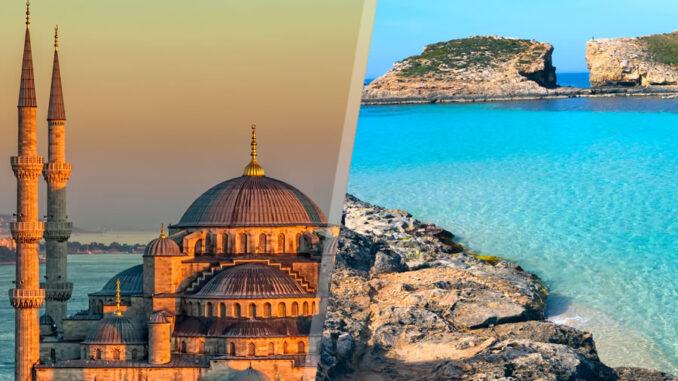 Turchia e Malta: Istanbul e Malta in aereo