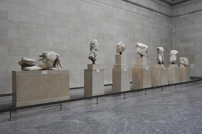 Le statue di un frontone del Partenone ©Foto The Trustees of the British Museum