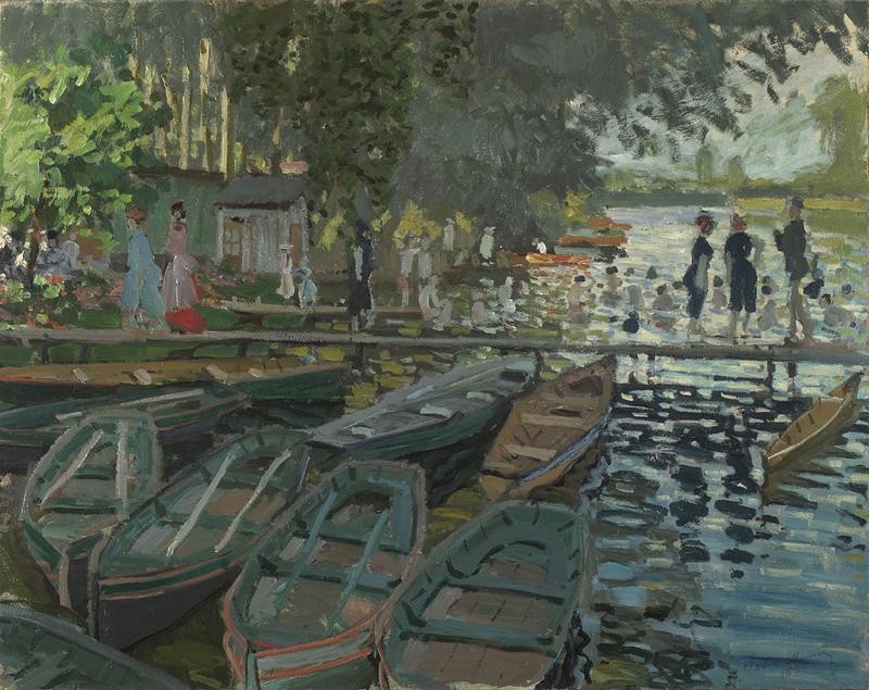 Bagnanti a La Grenouillere di Claude Monet - Foto National Gallery Londra