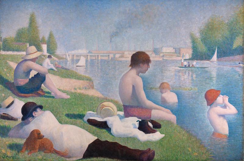 Bagnanti ad Asnieres di Georges Seurat - Foto National Gallery Londra