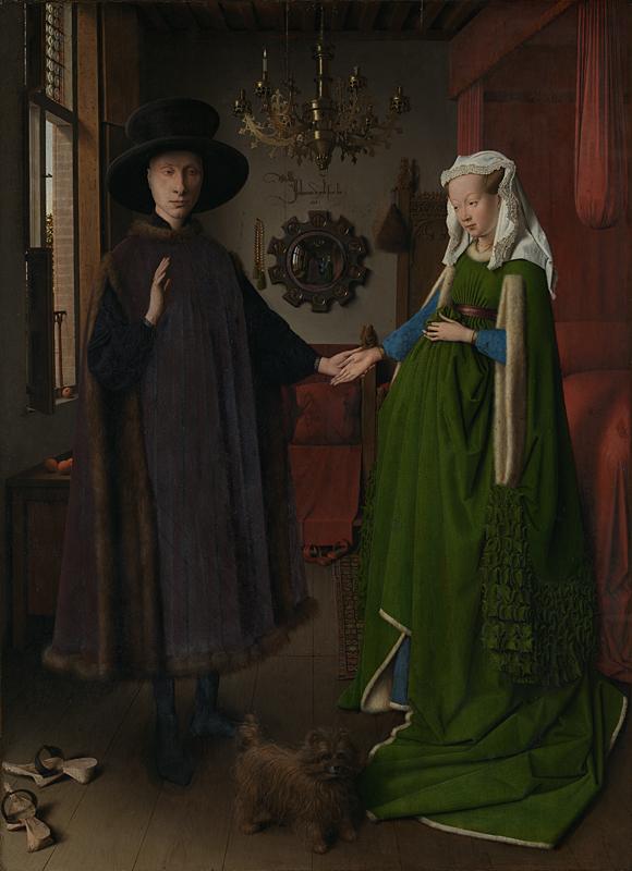I coniugi Arnolfini di Jan Van Eyck - Foto National Gallery Londra