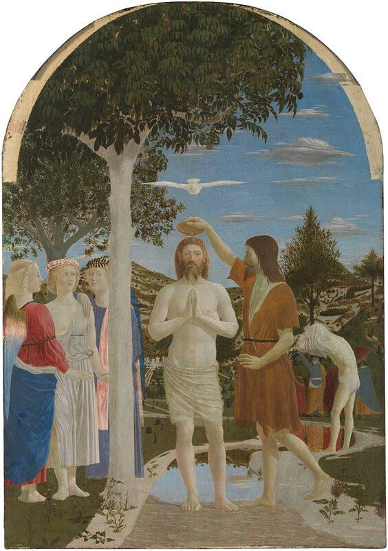 Il Battesimo di Cristo di Piero della Francesca - Foto National Gallery Londra