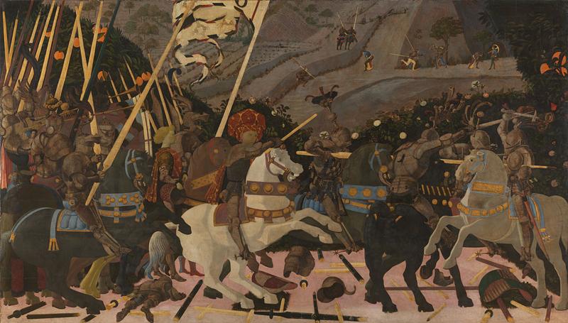 La battaglia di San Romano di Uccello - Foto National Gallery Londra