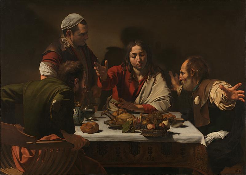 La cena di Emmaus di Caravaggio - Foto National Gallery Londra