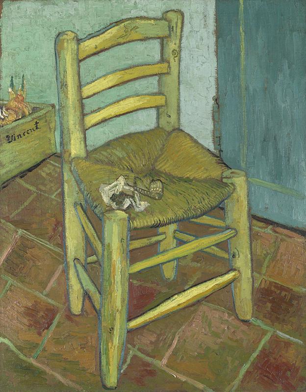 La sedia di Ban Gogh di Vincent Van Gogh - Foto National Gallery Londra